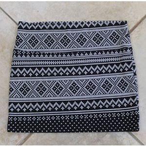 Wet Seal Mini Skirt Black White BodyCon size M